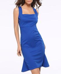 Electric blue mid length dress