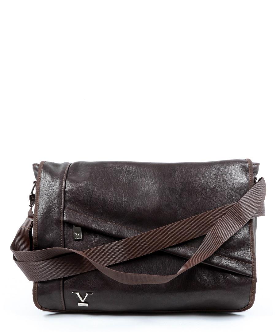 Brown leather messenger bag Sale - VERSACE 1969 ABBIGLIAMENTO SPORTIVO SRL  MILANO ITALIA aace4ac567d07