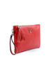 Red leather tassel clutch bag Sale - v italia by versace 1969 abbigliamento sportivo srl milano italia Sale