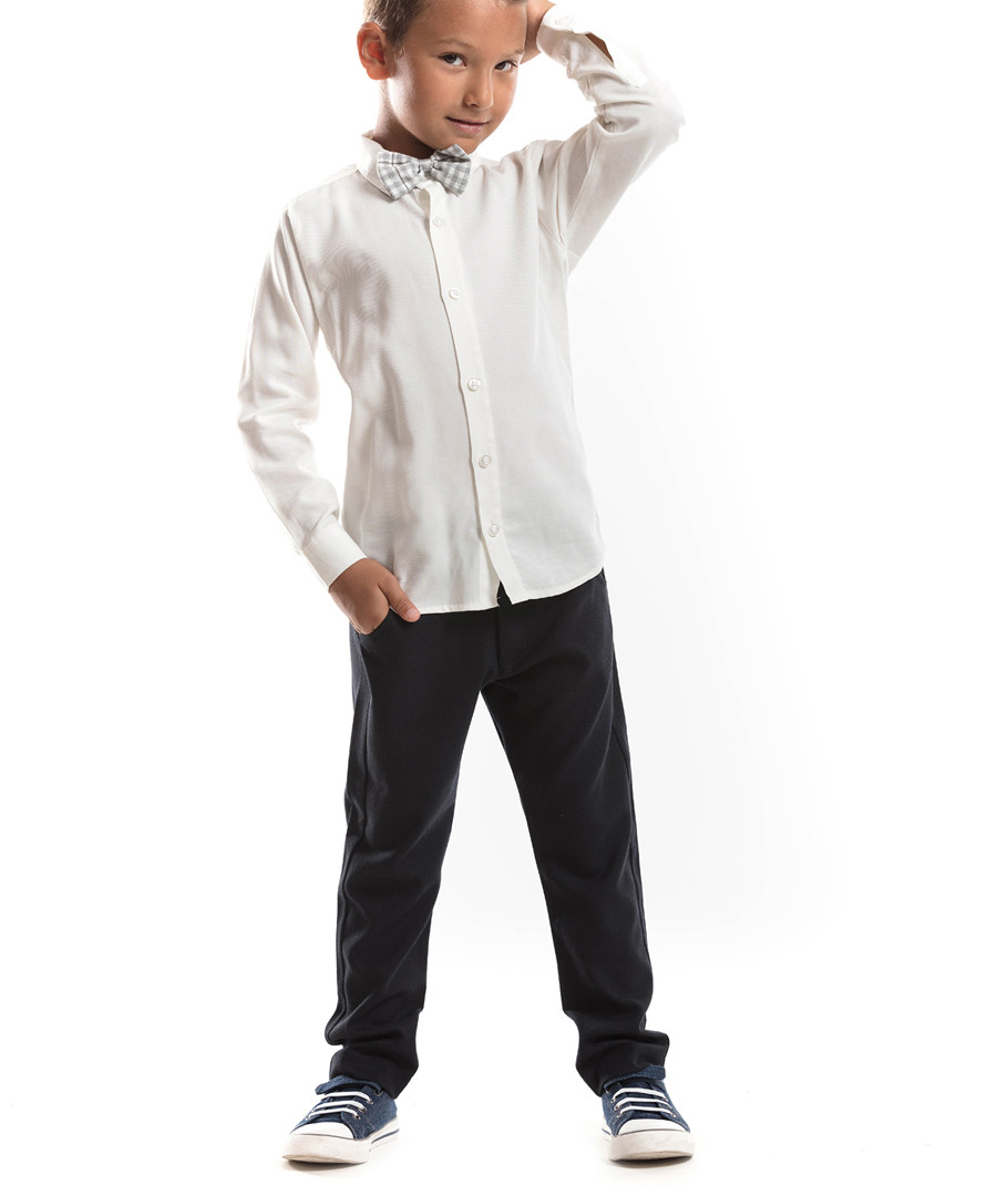 2pc Boys' white top & trouser set Sale - Denokids