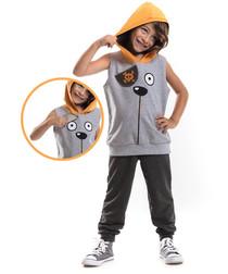 2pc Boys' grey top & trouser set