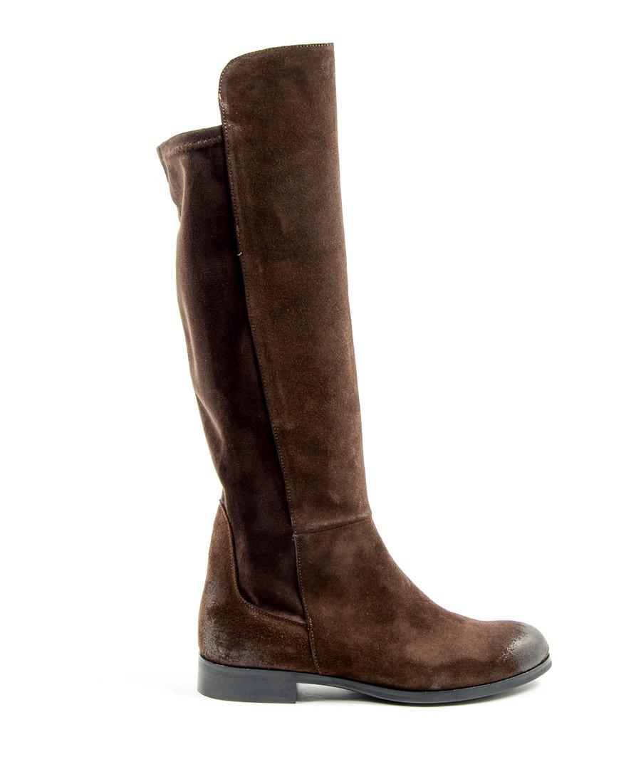 Women's Earth brown suede boots  Sale - V ITALIA BY VERSACE 1969 ABBIGLIAMENTO SPORTIVO SRL MILANO ITALIA