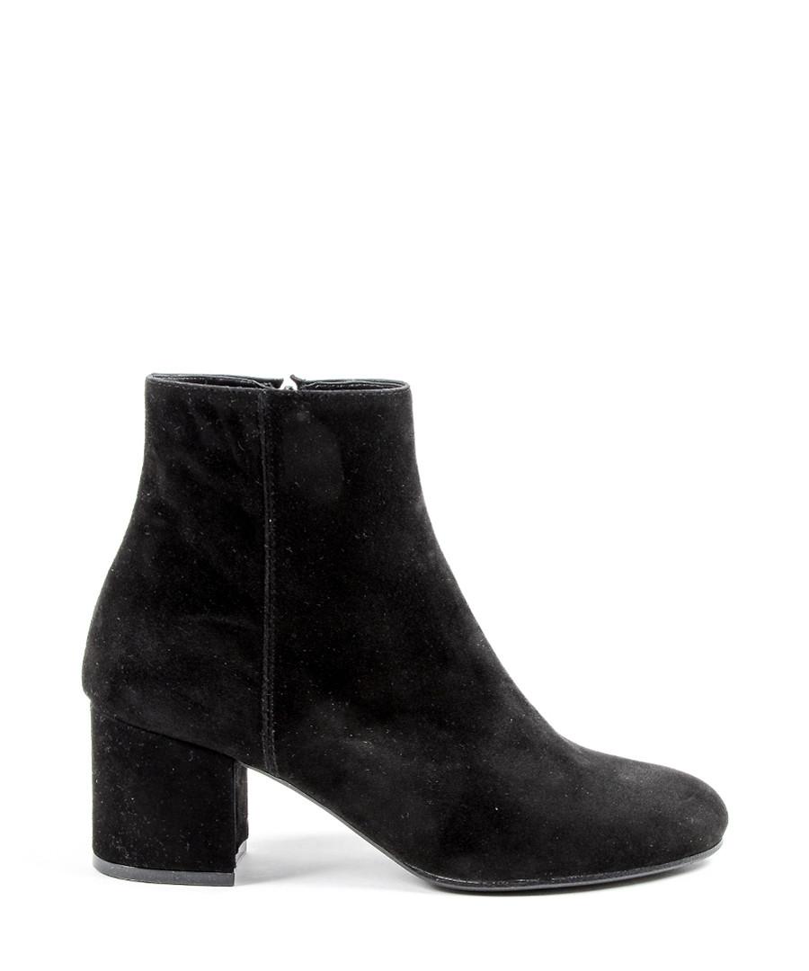 Women's Black suede mid heel ankle boots Sale - Versace 1969 abbigliamento sportivo