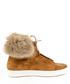 Tan suede fluffy laced boots  Sale - v italia by versace 1969 abbigliamento sportivo srl milano italia Sale