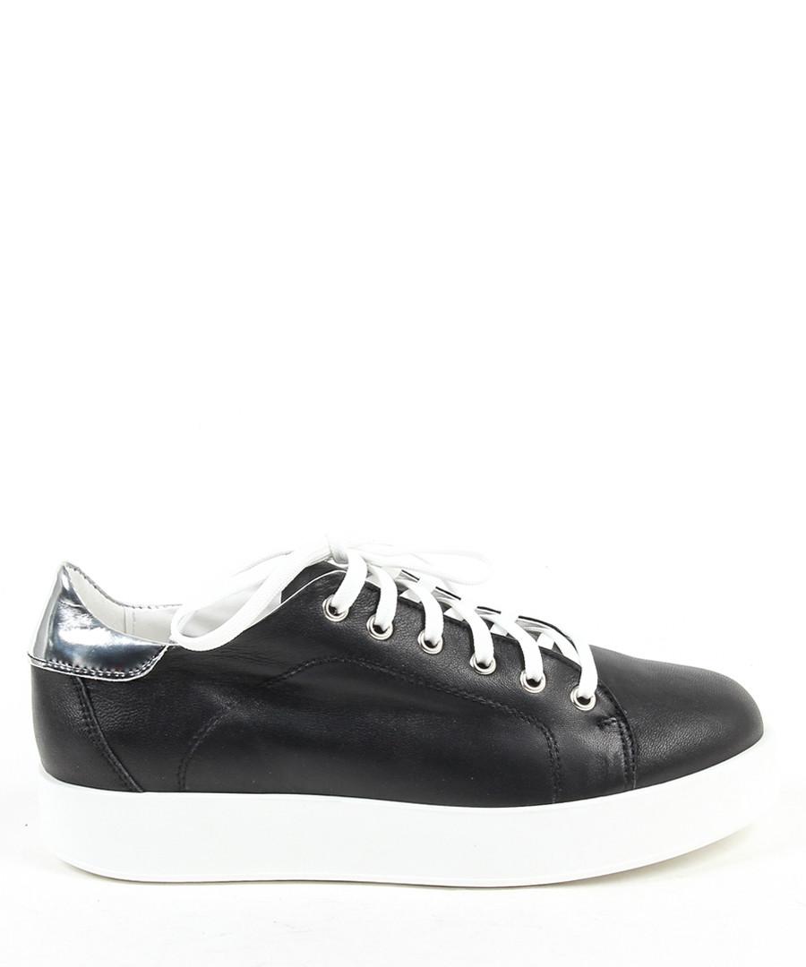 Black & white leather sneakers  Sale - v italia by versace 1969 abbigliamento sportivo srl milano italia