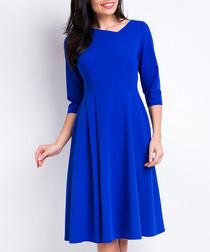 Cobalt asymetrical shift dress