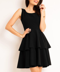 Black strap layered dress