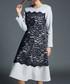 Grey & black lace panel dress Sale - yyfs Sale