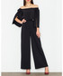 Black off-the-shoulder flared jumpsuit Sale - figl Sale