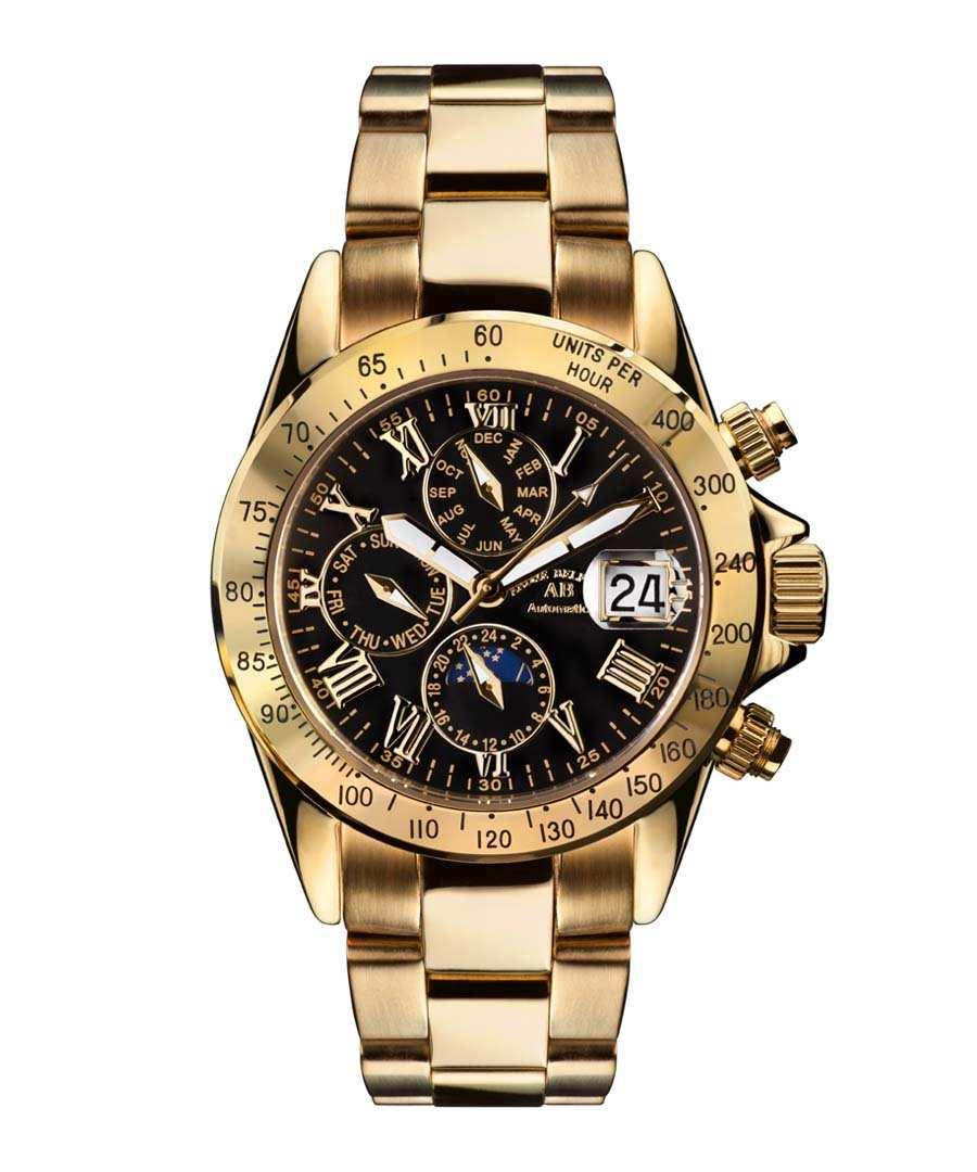 Le Captaine black & gold-tone watch Sale - andre belfort