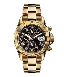 Le Captaine black & gold-tone watch
