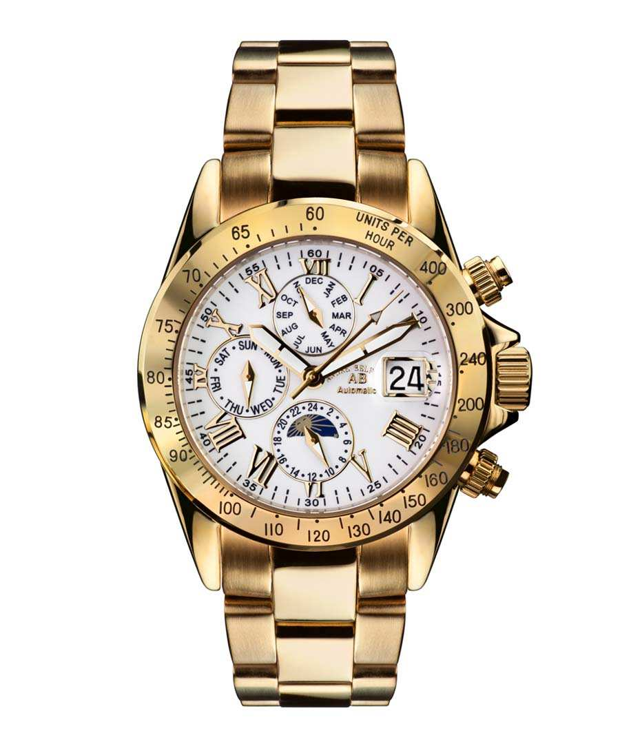 Le Captaine white & gold-tone watch Sale - andre belfort
