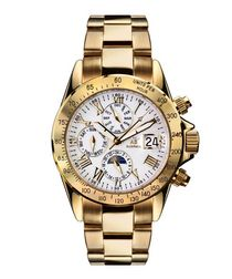 Le Captaine white & gold-tone watch