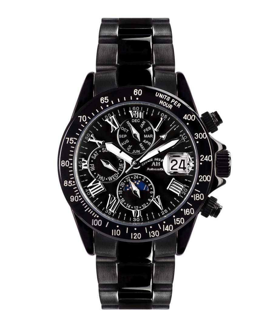 Le Captaine black steel watch Sale - andre belfort