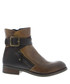 Afar camel & chocolate leather boots Sale - fly london Sale