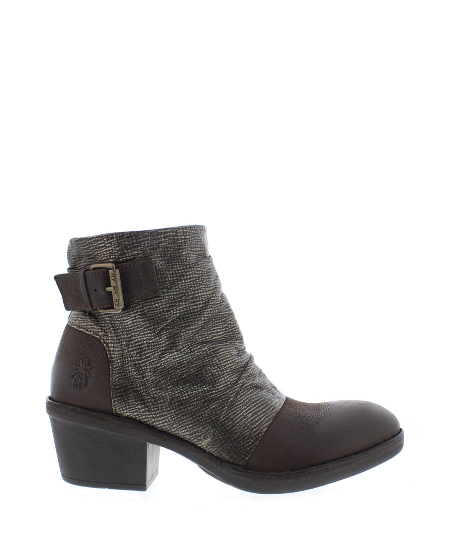 Dape chocolate brown leather ankle boots Sale - fly london