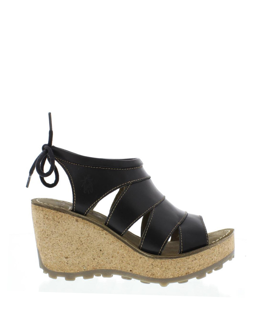 Gola black leather cut-out wedges  Sale - fly london