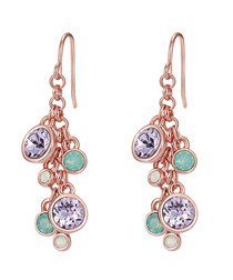 Rose gold-plated crystal drop earrings