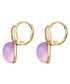 Gold-plated & pink crystal drop earrings Sale - lilly & chloe Sale