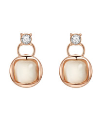 Rose gold-plated & crystal earrings