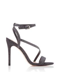 Scarlette gunmetal glitter strap heels