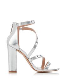 Scarlette silver strappy sandal heels