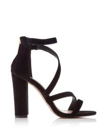 Scarlette black strappy sandal heels