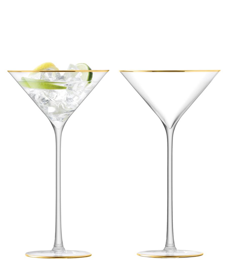 2pc gold-tone cocktail glass set Sale - lsa