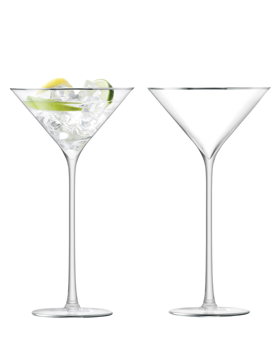 2pc platinum-tone cocktail glass set Sale - lsa