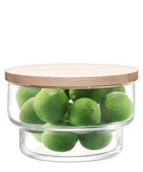 Utility glass bowl & lid