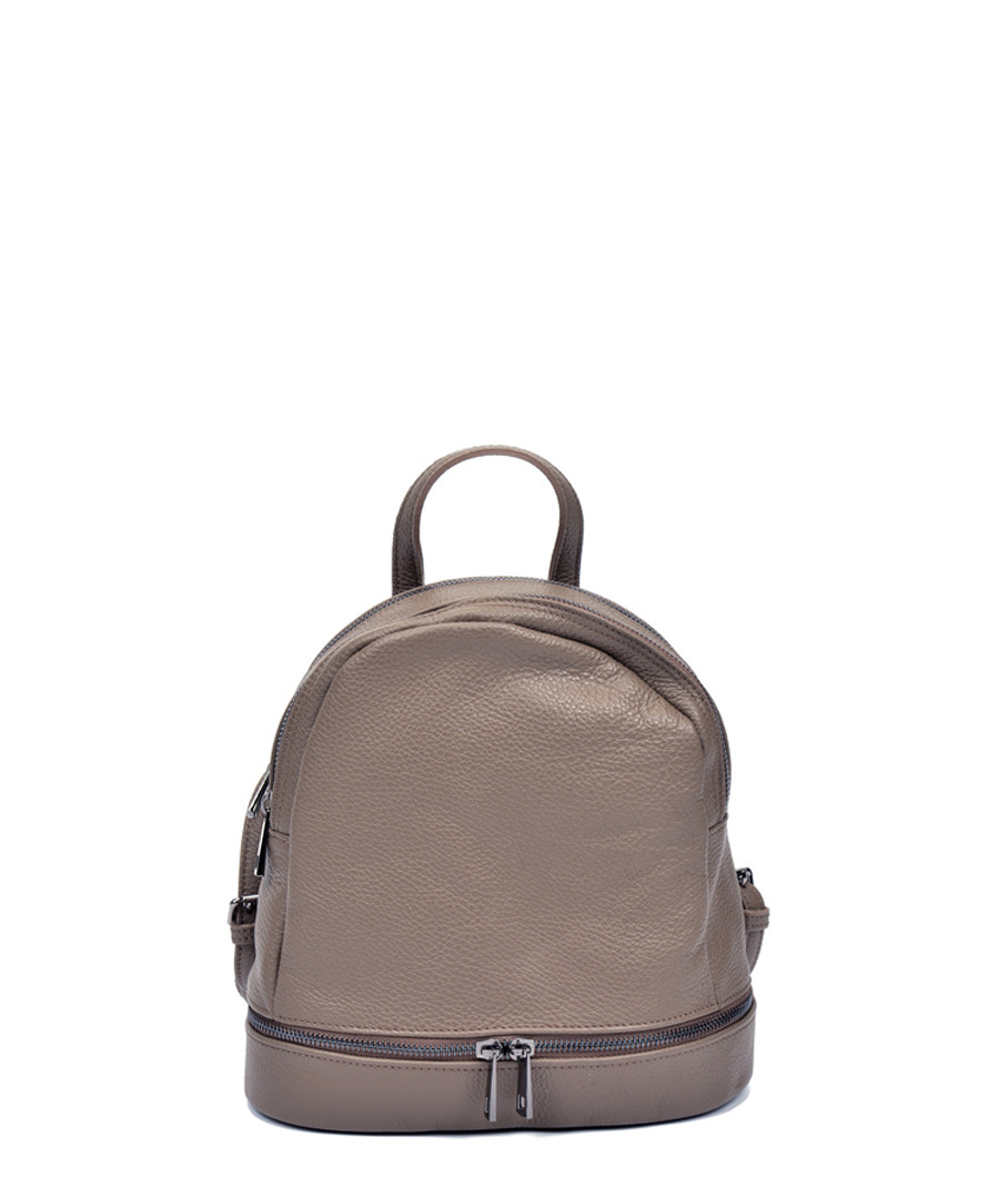 Beige leather dual-zip backpack Sale - Sofia Cardoni