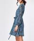 Blue floral print wrap dress Sale - zibi london Sale