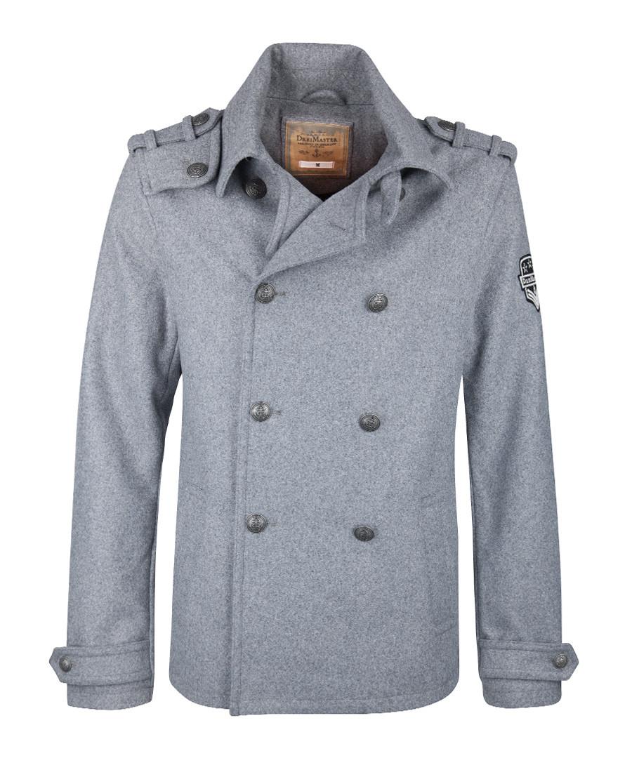 Men's grey wool blend duffle coat  Sale - DreiMaster