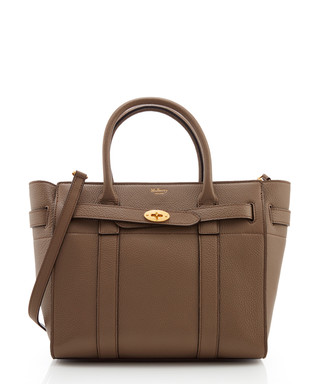 a8de93324558 Mulberry. Zipped Bayswater clay leather grab bag
