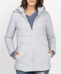 Pebble grey padded coat