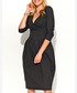 Graphite cotton blend wrap dress Sale - makadamia Sale
