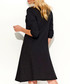 Black cotton blend loose dress Sale - Makadamia Sale