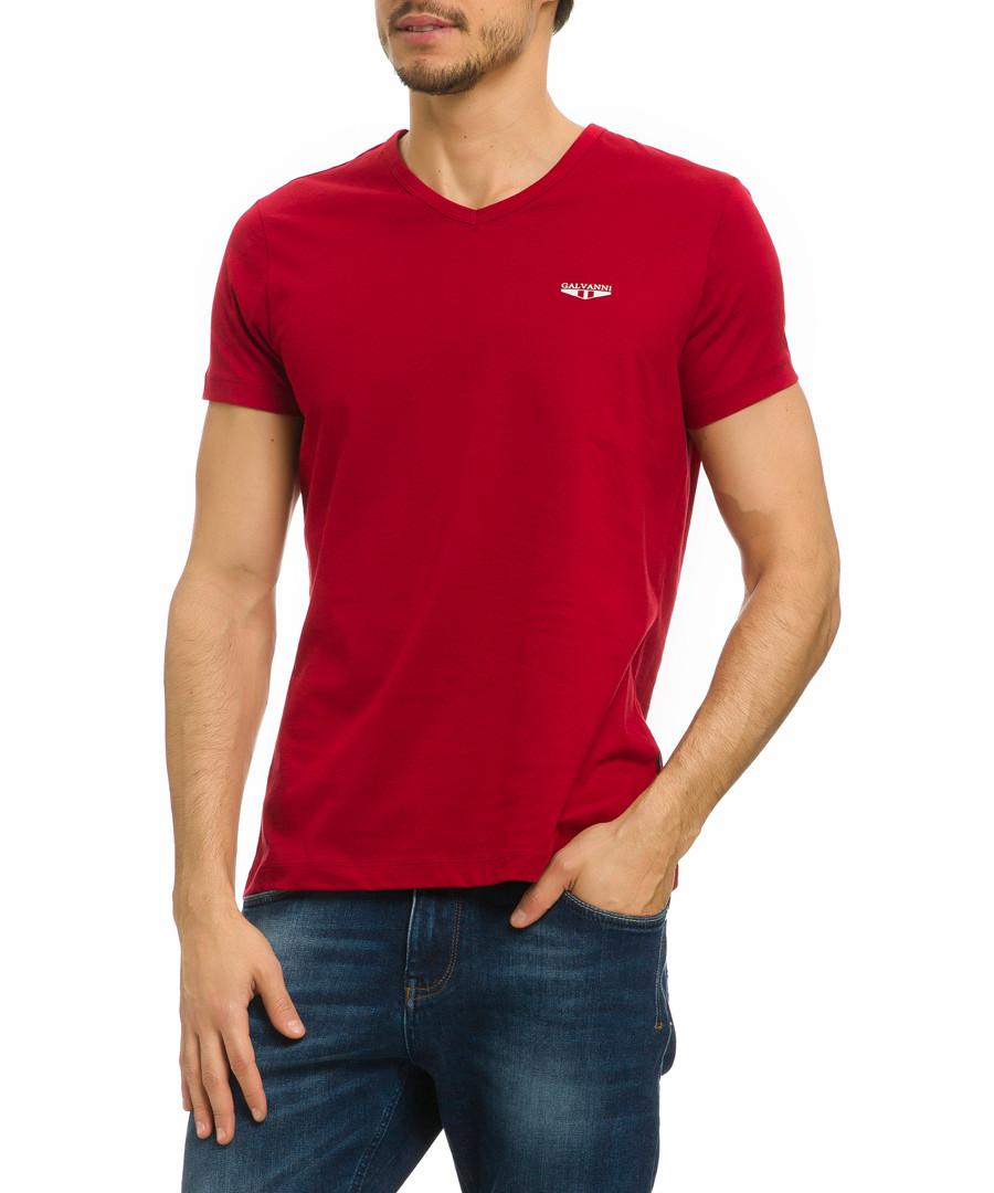 Favori red pure cotton T-shirt Sale - galvanni