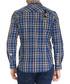 Lott blue cotton checked shirt Sale - galvanni Sale