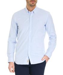 Nicon pale blue cotton striped shirt