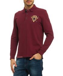 Duerer burgundy cotton polo top