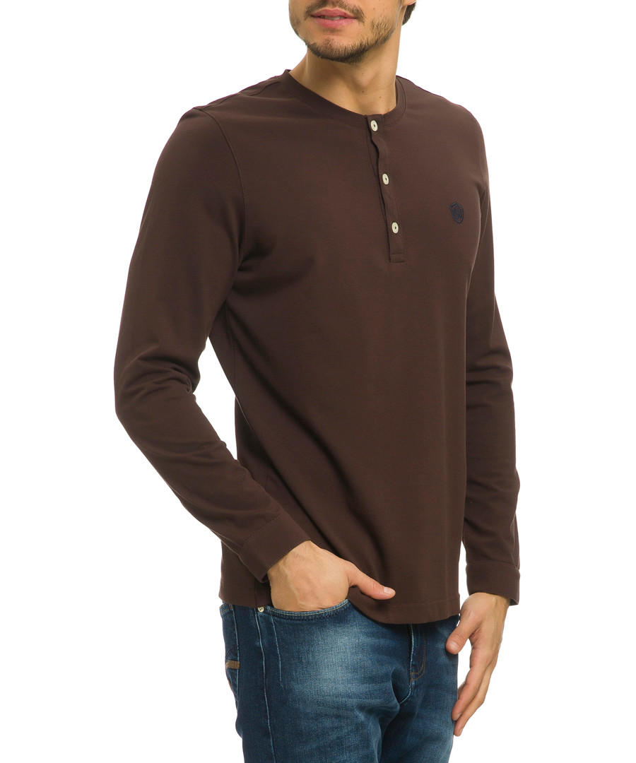 Coutou coffee cotton blend top Sale - galvanni