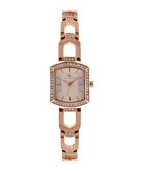 Grosvenor rose gold-tone steel watch
