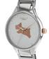 Silver-tone steel dog motif link watch Sale - radley london Sale