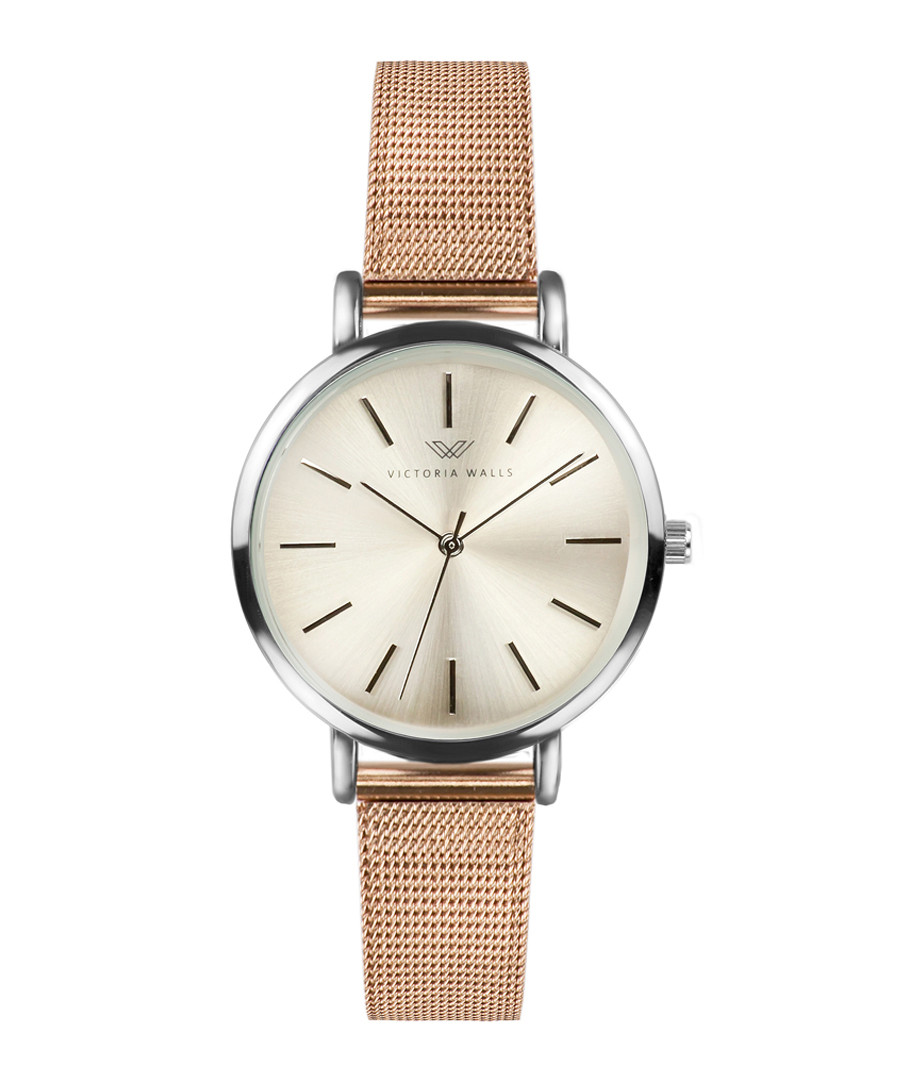 Rose-gold tone & silver-tone steel watch Sale - victoria walls