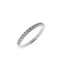 White gold & diamond half eternity ring