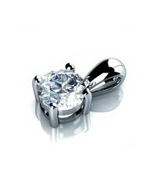 18ct white gold & diamond drop necklace