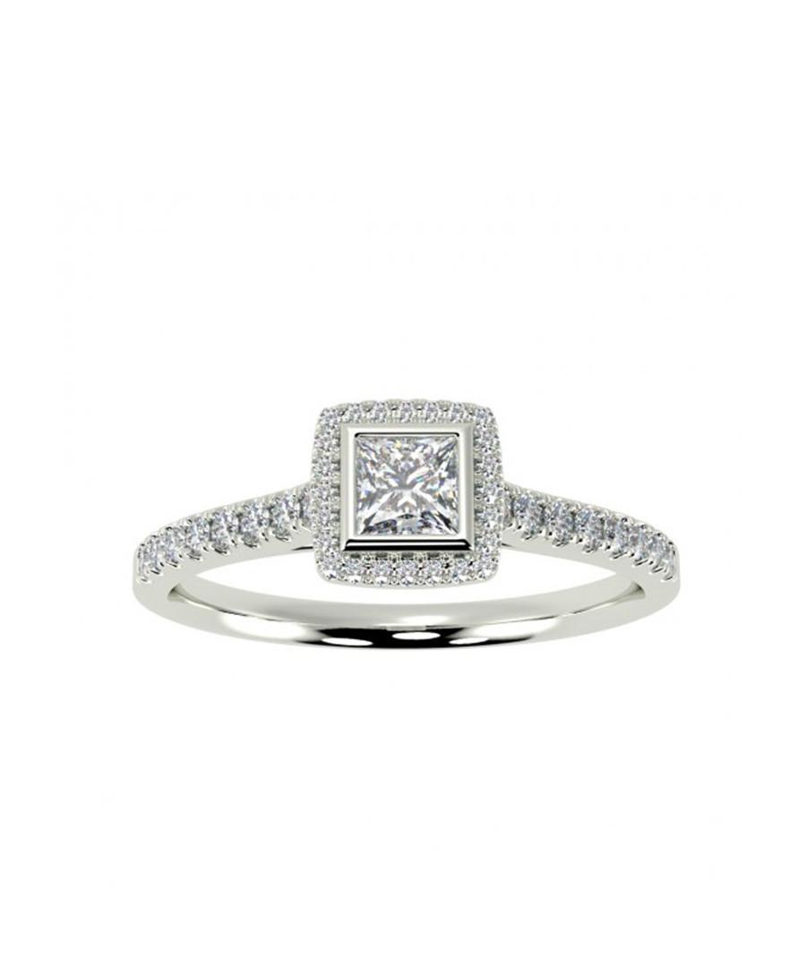 9ct white gold & diamond square ring Sale - Buy Fine Diamonds
