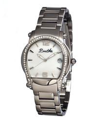 Fiona silver-tone steel watch