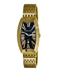 Laura gold-tone steel oval face watch